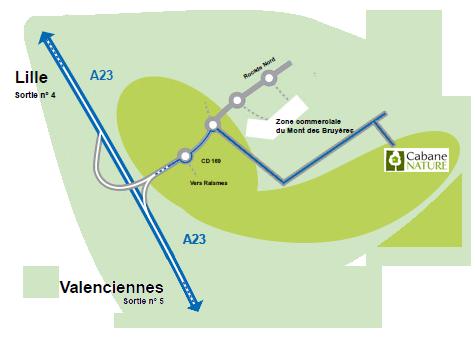 plan d'accès à cabane nature
